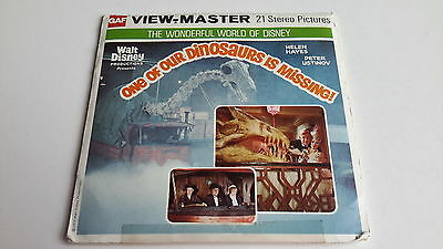 Viewmaster three reel set 3d ONE OF OUR DINOSAURS IS MISSING B377 Disney Movie