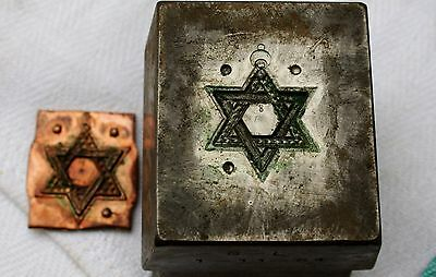 JEWISH STAR OF DAVID Steel Forming Hob Jewelry Stamping Die Block Trimming Die
