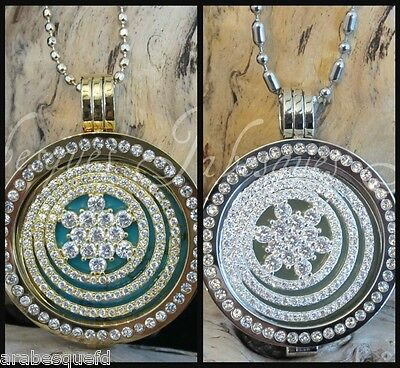 2 Large Coin/Moneda Sparkling Crystal For Mi Milano Necklace/Pendant/Carrier