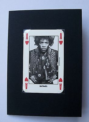 Jimi Hendrix Valentine Card Made With Rare Collectable Nme Playing Card. Unique