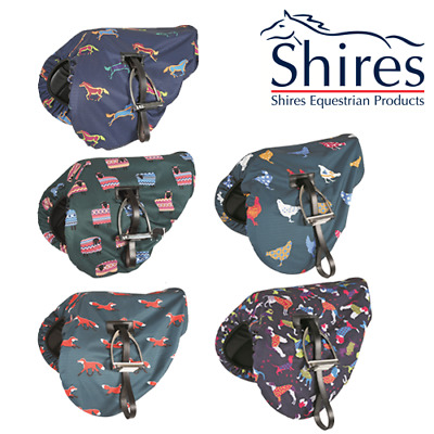 Shires Waterproof Ride On Saddle Cover Protector - Various Designs - NEW (233)