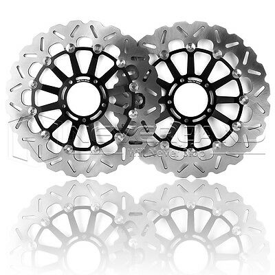 2X Motorbike Front Brake Disc Rotors For Ducati PANIGALE S ABS 1199 12-14 Wave