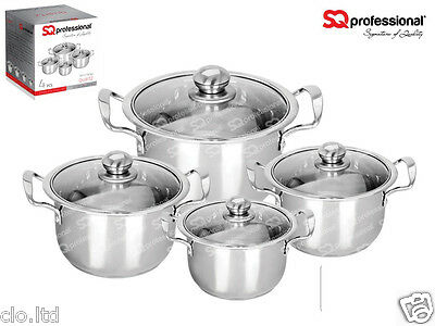 SQ PROFESSIONAL Stainless Steel Cooking/Casserole Pots/All size20cm -32cm Sizes.