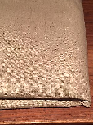 Excellent Quality Vintage Upholstery 100% Linen Fabric 286cmx93cm Natural