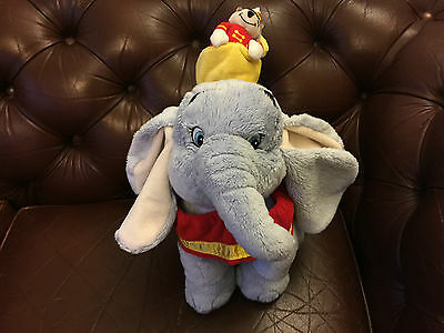 Disney Timothy Mouse On Dumbo The Circus Elephant Soft Plush Toy Store Exclusive