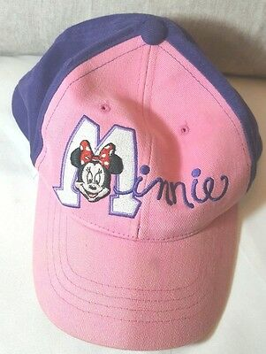 Disney Minnie Mouse Girls Baseball Hat Cap for Kids One Size Pink Purple