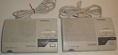 RADIOSHACK FM WIRELESS INTERCOM PAIR No. 43-490 - System 3-Channel Lot Set