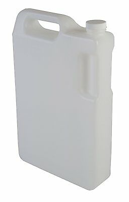 Hudson Exchange 5 Liter HDPE Hedpak Container With 38mm White Cap