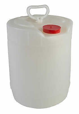 Hudson Exchange 5 Gallon UN Winpak HDPE Container With 70mm Dust Cover, Natural