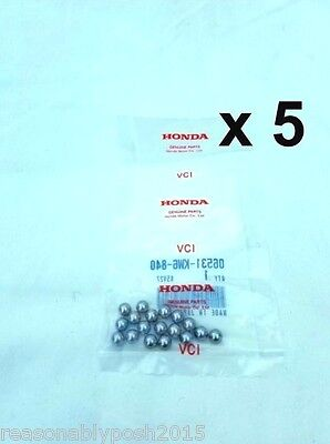 5 Bags of #8x18 Genuine OEM Honda 06531-KW6-840 Steel Ball Assy CN250 Front Fork