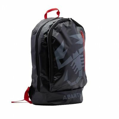 Genuine New Fiat Abarth Black Bag Ruck Sack Back Pack 59230561