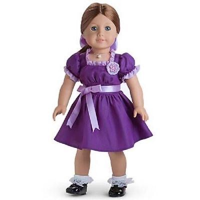 American Girl Doll Emily's Purple Holiday Dress Outfit Set NEW!! Molly Retired