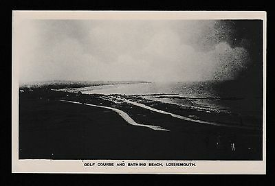 Golf Course and Bathing Beach Lossiemouth Moray Real Photographic Postcard