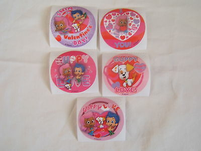 5-Bubble Guppies   Valentine   Stickers Party Favors