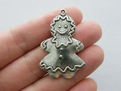 SC3361 4 Redneck Woman Charms Antique Silver Tone