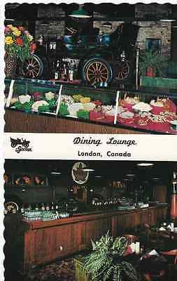 Vintage Unused Postcard-The Garage Dining Lounge, London, Ontario, Canada
