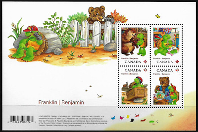 Canada Stamps — Souvenir Sheet — Franklin / Benjamin, The Turtle #2541 — MNH