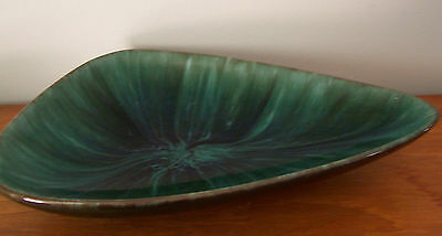 "Vintage 12"" Triangle Shaped Blue Mountain Pottery Dish"