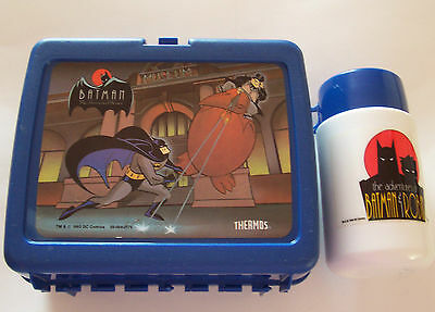 1993 Dc Comics Batman Animated Series Lunch Box With Thermos