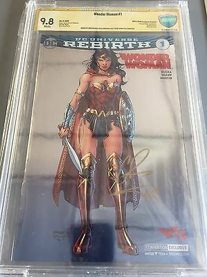 Wonder Woman #1 CBCS 9.8 ASP SDCC Foil variant Rebirth Signed by Rucka, Sinclair