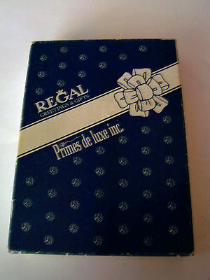 Lot Of Vintage Mixed Greeting Cards In Regal Greeting & Gifts Box