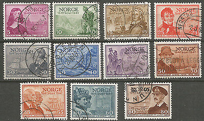 Norway 1947  used stamps set
