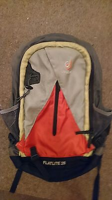 deuter 28 litre grey orange and yellow backpack rucksack
