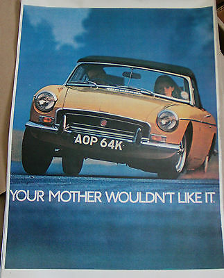 Mgb Roadster Advertising Poster Print A3 Your Mother Wouldn't Like It