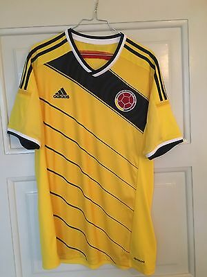 Colombia National Team Wc 2014 Adidas Home Football Shirt Jersey (L)
