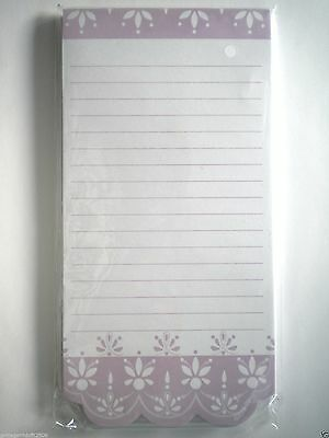 """""""PURPLE PASTEL DAMASK"""" MAGNETIC LIST PAD ~ 80 Lined Sheets"""
