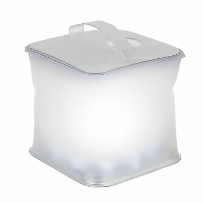 Ivation Inflatable Cube Solar Lantern Waterproof IPX7 10-LED w/3 Light Modes ...