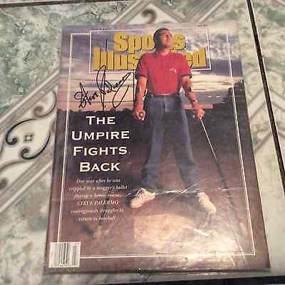 Steve Palermo Autographed Sports Illustrated/died May 14, 2017