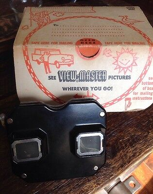 Sawyers Viewmaster 1940s Model B Bakelite With Travel Shipping Box