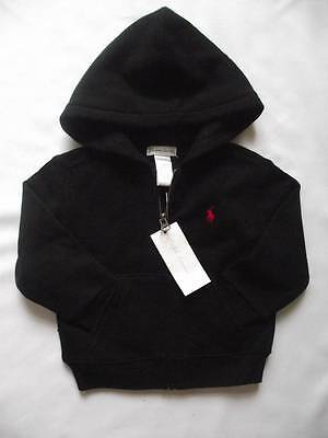 NEW Ralph Lauren Boys Polo Black Hooded Top Hoody Jacket 9-12 months