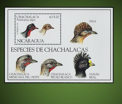 1994 Species Of Grouse - Chachalacas Birds Ortalis  Penelopina Nigra Sct 2068