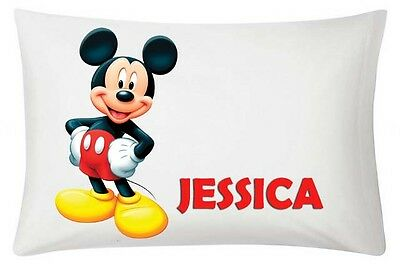 Mickey Mouse Personalised White Pillowcase 60X40Cm Gift Item