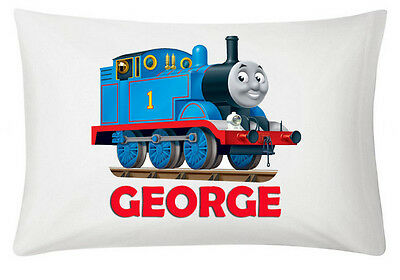 Thomas The Train Personalised White Pillowcase 60X40Cm Gift Item