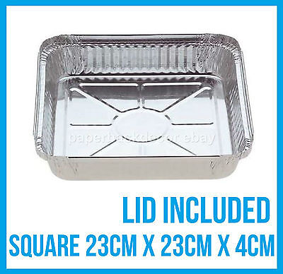 Foil Trays Bbq Aluminium Roasting Disposable Container Plate Tray Party Takeaway
