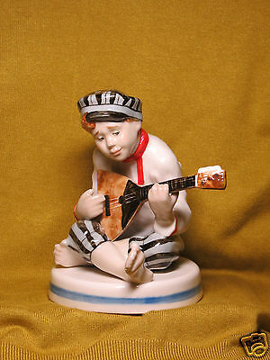 Russian AUTHOR'S porcelain statue of HANDMADE and hand painted