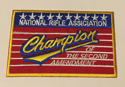 NEW UNIQUE NATIONAL RIFLE ASSOCIATION EMBROIDERED PATCH iron-on QUALITY ITEM J