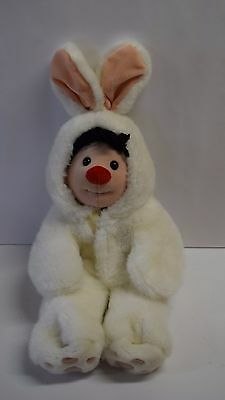 """1995 Molly Doll BUNNY COSTUME The Big Comfy Couch 15"""" Plush Stuffed Toy Rabbit"""