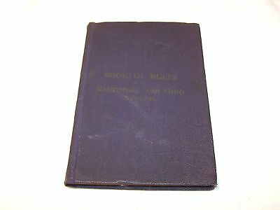 BALTIMORE & OHIO RAILROAD COMPANY B & O 1913 RULE BOOK String Binding Train