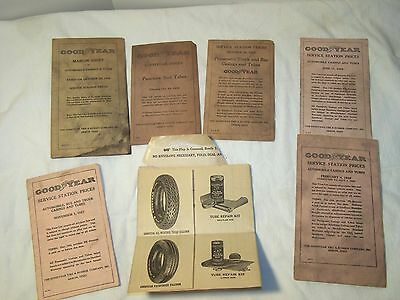 GOODYEAR TIRE DEALER 7 PIECE PAMPHLET LOT Akron, Ohio 1927,1928,1929 Collectible
