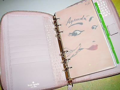 Kate Spade Leather Zip Around Personal Planner & Calendar - Ballet Pink