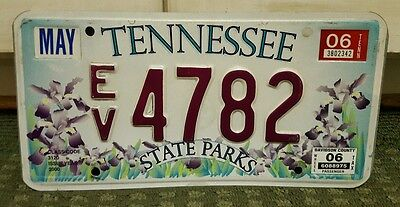 2006 Tennessee State Parks Optional License Plate - Unique - Ev 4782