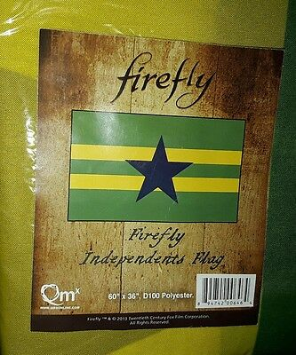 """Firefly Independents Federation Flag Serenity Licensed 60"""" X 36"""" Copyright 2013"""