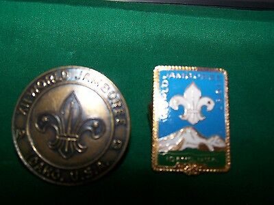 Lot of 2 Boy Scouts Metal Neckerchief Slide XII World Jamboree 1967 Idaho