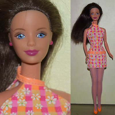 "1991 Mattel Barbie 11.5"" MOD MACKIE DOLL Brunette Teresa Fair Skin for OOAK"