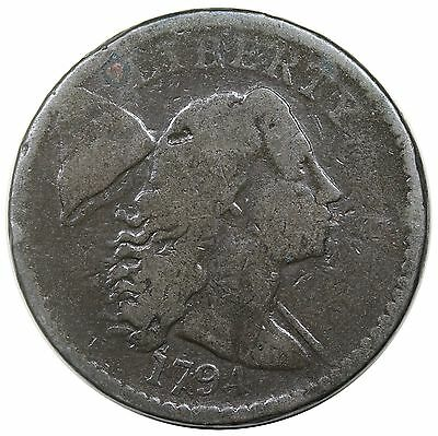 1794 Liberty Cap Large Cent, Head of '94, S-44, G+