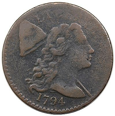 1794 Liberty Cap Large Cent, Head of '94, S-57, F detail